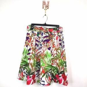 NEW Soft Surroundings Tropical Floral Pleat Skirt